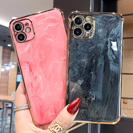 Marbling iPhone mobile phone case wholesale Nihaojewelry NHKAT425610's discount tags