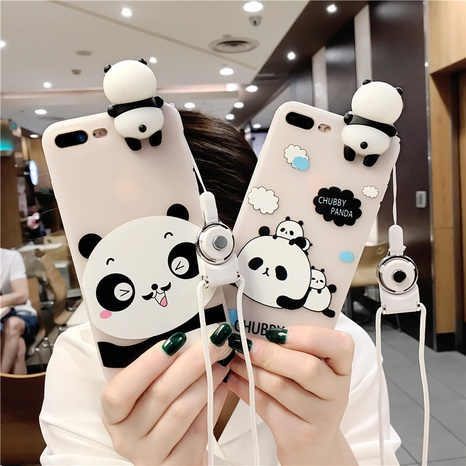 cartoon panda soft silicone mobile phone protective cover wholesale Nihaojewelry  NHKAT425612's discount tags