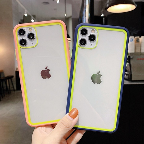hit color acrylic candy color Apple mobile phone case wholesale Nihaojewelry NHKAT425614's discount tags