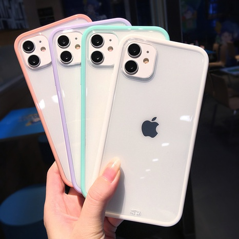 iPhone two-color straight side mobile phone case wholesale Nihaojewelry NHKAT425617's discount tags