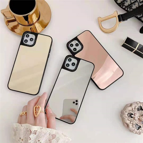 Apple Pure Color Mirror Phone Case Wholesale Nihaojewelry NHKAT425619's discount tags