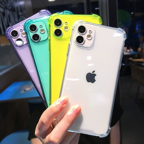 fashion fluorescent color iPhone mobile phone case wholesale Nihaojewelry NHKAT425620's discount tags