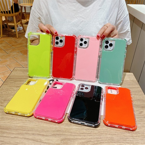 simple candy color transparent protective cover wholesale Nihaojewelry  NHKAT425625's discount tags