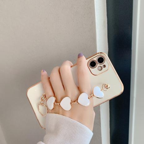 Korean heart wrist chain Apple mobile phone case wholesale Nihaojewelry NHKAT425626's discount tags