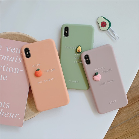 Cute three-dimensional avocado frosted mobile phone case wholesale Nihaojewelry  NHKAT425627's discount tags
