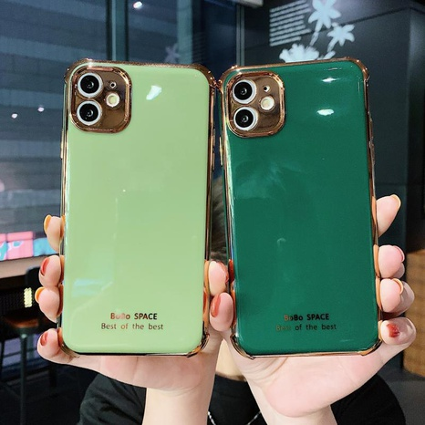 anti-drop electroplating soft mobile phone shell wholesale Nihaojewelry NHKAT425632's discount tags
