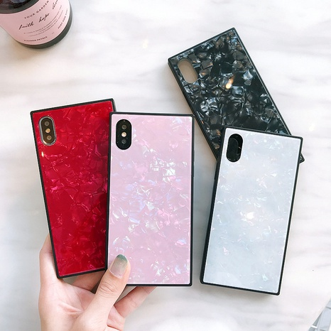 square shell glass mobile phone shell wholesale Nihaojewelry NHKAT425633's discount tags