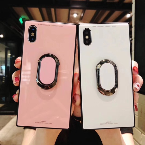 glass solid color stand mobile phone shell wholesale Nihaojewelry NHKAT425639's discount tags