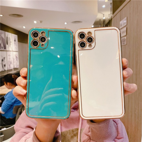 fashion electroplating photo frame transparent mobile phone shell wholesale Nihaojewelry  NHKAT425640's discount tags