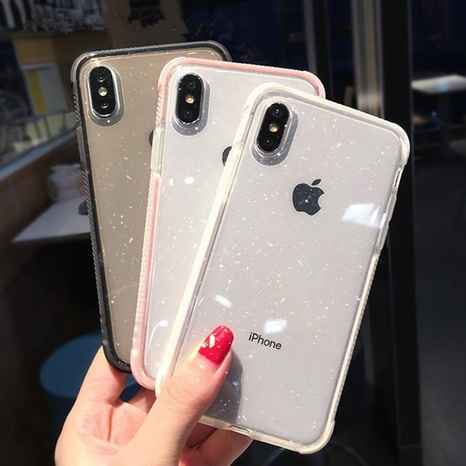 fashion two-color transparent glitter mobile phone case wholesale Nihaojewelry NHKAT425641's discount tags