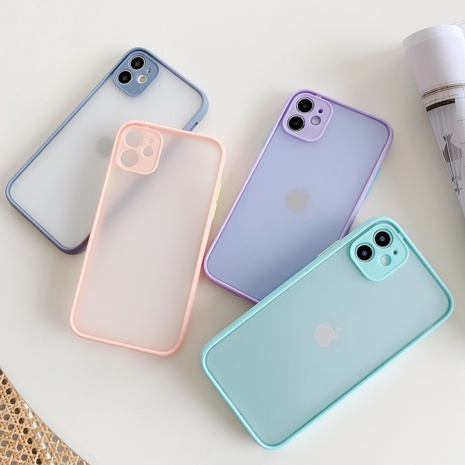 Color frame fine hole frosted mobile phone case wholesale Nihaojewelry  NHKAT425645's discount tags
