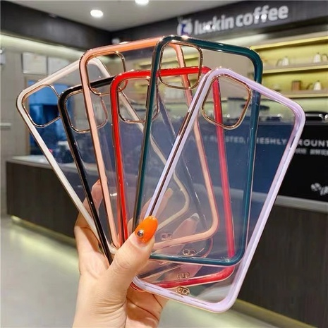 straight edge cube transparent phone protective soft cover wholesale Nihaojewelry NHKAT425652's discount tags