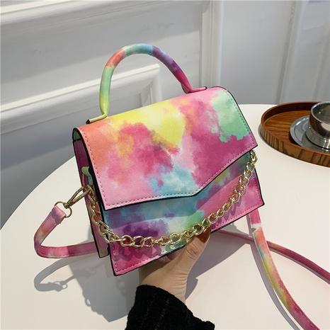 Korean chain handle smudge gradient color messenger bag wholesale Nihaojewelry  NHRU426067's discount tags