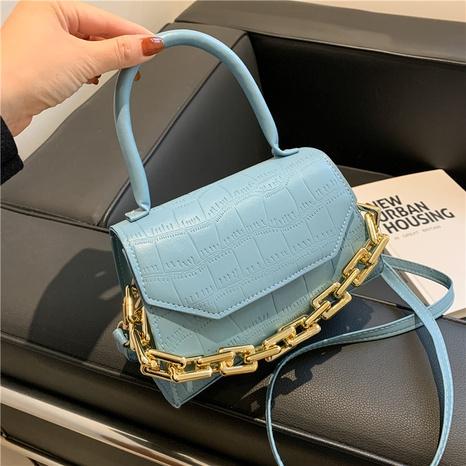 New crocodile pattern metal thick handle messenger bag wholesale Nihaojewelry  NHRU426068's discount tags
