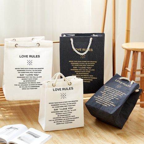 Mode Baumwollseil gedruckte Buchstaben Polyester Baumwolle Kleidersack Großhandel Nihaojewelry NHQMH426120's discount tags