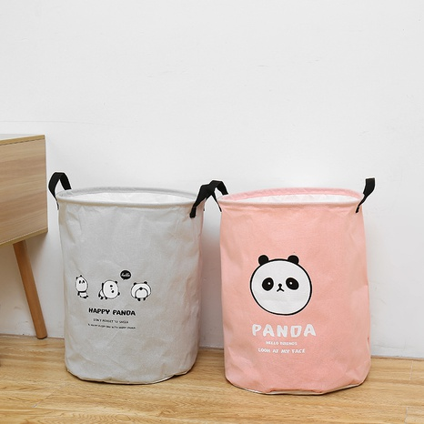 einfacher Cartoon-Panda-Druck staubdichter Aufbewahrungseimer Großhandel Nihaojewelry NHQMH426134's discount tags