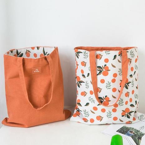 Modedruck Kontrastfarbe Stoff doppelseitige Baumwolle Leinen Tasche Handtasche Großhandel nihaojewelry NHQMH426139's discount tags