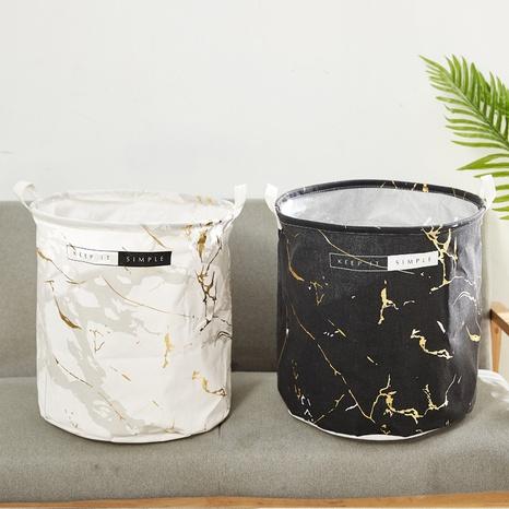 Mode Marmor Schriftzug Muster runden Home Storage Eimer Großhandel Nihaojewelry NHQMH426175's discount tags