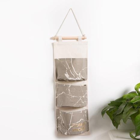 Marmordruck halbrunde drei Taschen Wandaufbewahrung hängende Tasche Großhandel Nihaojewelry NHQMH426177's discount tags