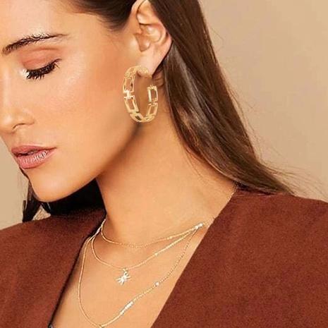 Mode Textur geometrische c-förmige Ohrringe Großhandel Nihaojewelry NHCT426296's discount tags