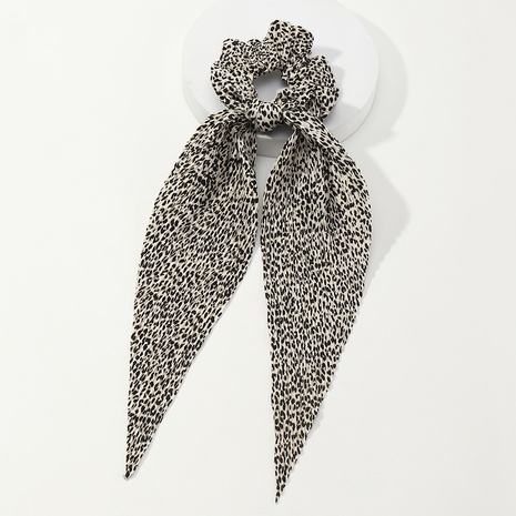 vintage fashion leopard ribbon hair tie wholesale nihaojewelry NHAU429504's discount tags