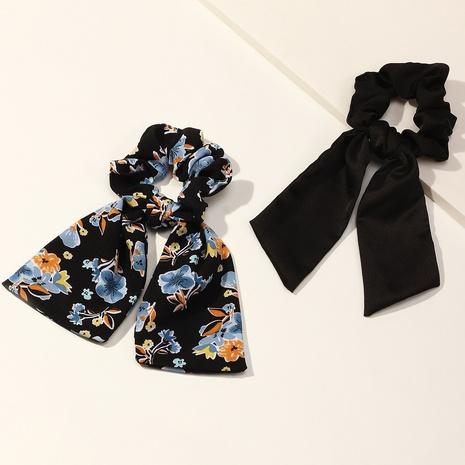 fashion vintage chiffon flower scrunchies wholesale nihaojewelry NHAU429503's discount tags