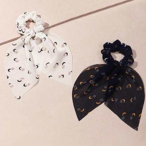 fashion vintage moon printing scrunchies wholesale nihaojewelry NHAU429501's discount tags