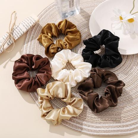 Scrunchies de pelo de color sólido grandes de satén de seda retro al por mayor nihaojewelry NHPJ427186's discount tags