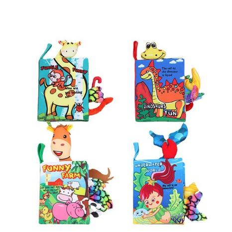 Baby dreidimensionales Tierschwanztuch Buch Großhandel Nihaojewelry NHBEI427509's discount tags