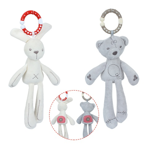 juguete creativo del bebé del sonajero de la felpa del conejo del oso al por mayor Nihaojewelry NHBEI427544's discount tags
