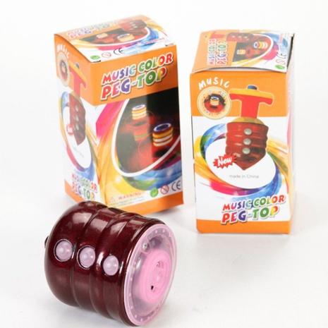 Juguete de giroscopio de madera de imitación luminosa de música colorida al por mayor nihaojewelry NHSCA427611's discount tags
