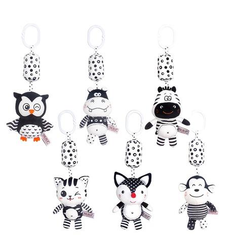 cochecito de bebé blanco y negro de dibujos animados colgando sonajero al por mayor Nihaojewelry NHBEI427741's discount tags