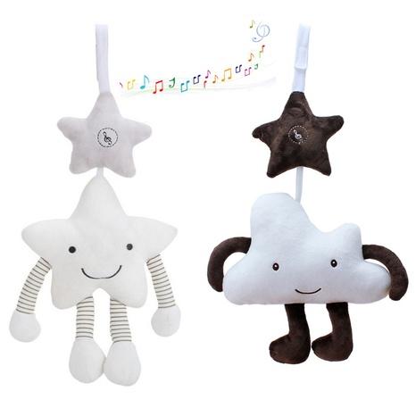 El juguete de la felpa del bebé del colgante de la campana del sonido de la nube de cinco estrellas blanca vende al por mayor Nihaojewelry NHBEI427746's discount tags