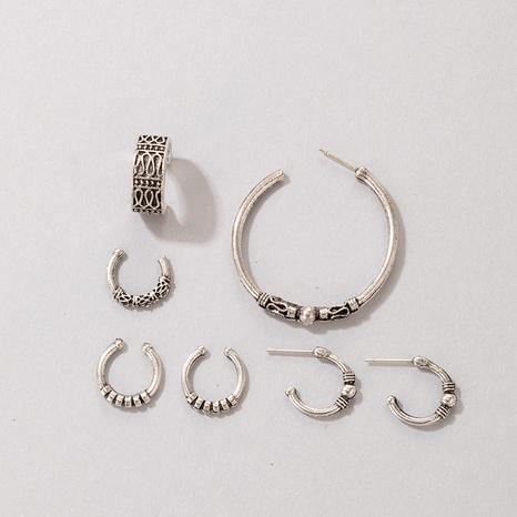 Pendientes geométricos de estilo étnico conjunto de siete piezas al por mayor nihaojewelry NHGY429478's discount tags