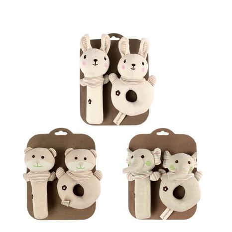 dibujos animados animal redondo bebé juguete de mano calmante al por mayor Nihaojewelry NHBEI427502's discount tags