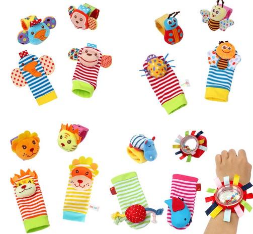 Baby Cartoon Tier Handgelenk Glocke Rassel Großhandel Nihaojewelry NHBEI427742's discount tags