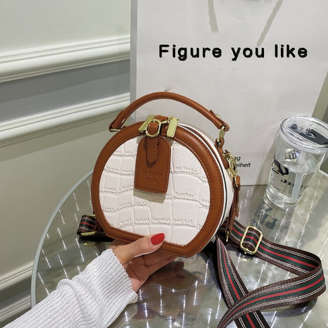Korean style crocodile pattern shoulder messenger small round bag wholesale nihaojewelry  NHLH427905's discount tags