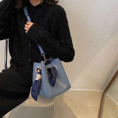 large capacity silk scarf portable shoulder messenger bucket bag wholesale nihaojewelry  NHLH427906's discount tags