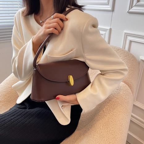 simple pure color shoulder underarm handbag wholesale nihaojewelry  NHLH427911's discount tags