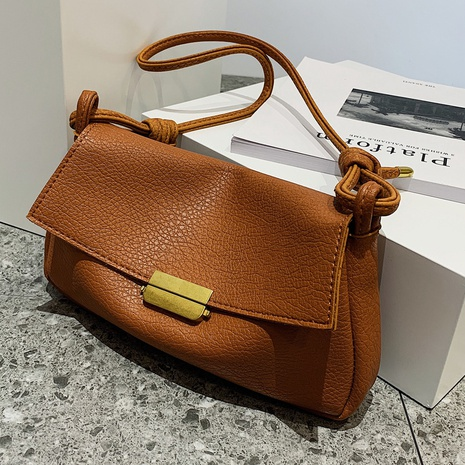 Simple one-shoulder messenger clamshell solid color small square bag wholesale nihaojewelry  NHLH427930's discount tags