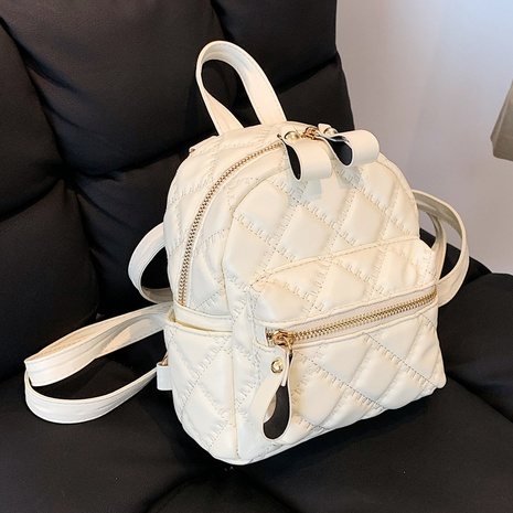 Korean solid color rhomboid small backpack wholesale Nihaojewelry NHLH428006's discount tags