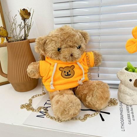 Plush bear toy shape shoulder messenger bag wholesale nihaojewelry  NHGN428138's discount tags