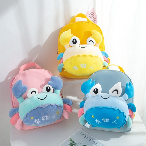 cartoon cute plush doll crab baby backpack wholesale nihaojewelry NHTG428254's discount tags