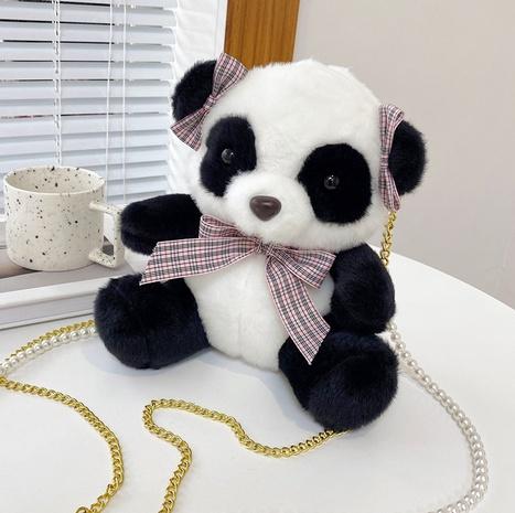 cartoon plush panda doll messenger bag wholesale Nihaojewelry NHTG428266's discount tags