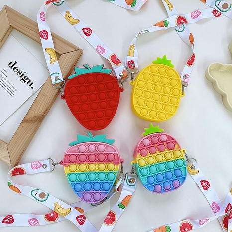 cartoon candy color fruit silicone bag wholesale Nihaojewelry NHTG428284's discount tags
