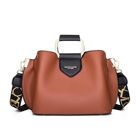 fashion contrast color large capacity shoulder bucket bag wholesale nihaojewelry NHAV428303's discount tags