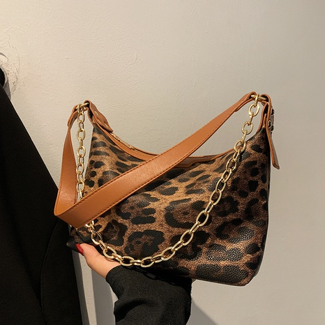 Fashion Retro One Shoulder Leopard Print Dumpling Bag Wholesale Nihaojewelry NHAV428326's discount tags