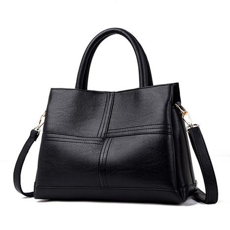Korean style large capacity soft leather messenger handbag wholesale nihaojewelry  NHAV428363's discount tags
