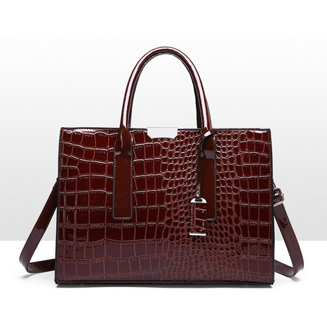 fashion crocodile pattern shoulder messenger bag wholesale nihaojewelry NHAV428364's discount tags
