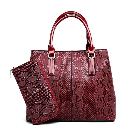 fashion patent leather messenger shoulder handbag wholesale nihaojewelry  NHAV428365's discount tags
